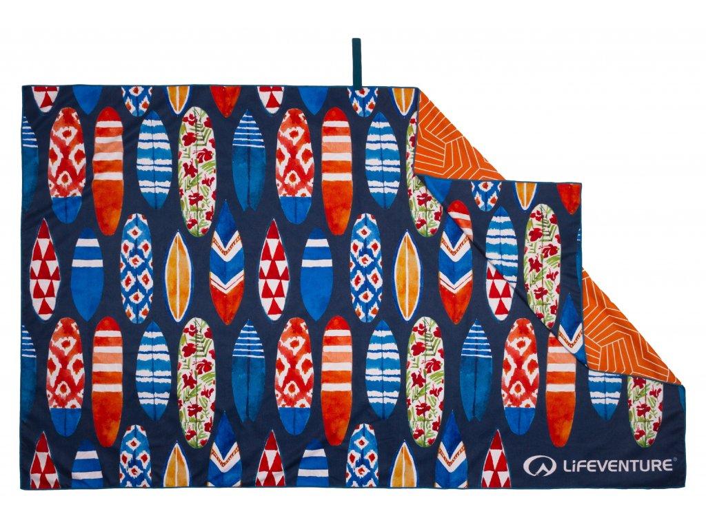 Lifeventure outdoorový ručník Printed SoftFibre Trek Towel surfboards 1