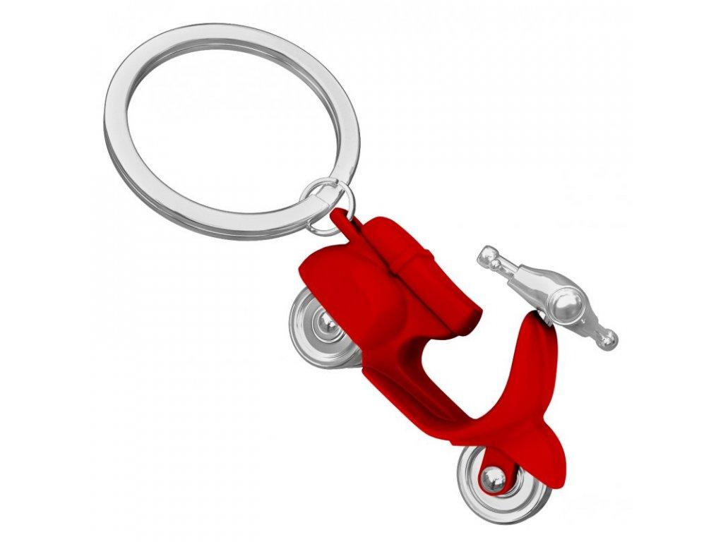 MTM přívěsek na klíče scooter Vespa v červené lesklé barvě 1