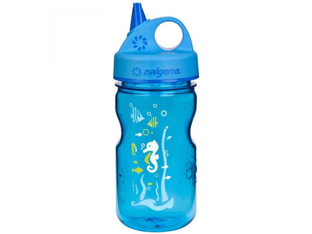 NALGENE dětská láhev Grip'n Gulp 350 ml Blue Seahorse 1