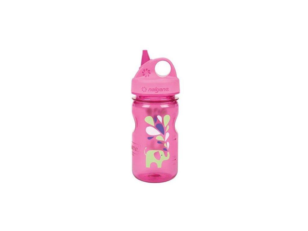 NALGENE dětská láhev Grip'n Gulp 350 ml Pink Elephant 1