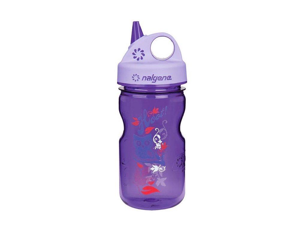 NALGENE dětská láhev Grip'n Gulp 350 ml Purple Hoot 1