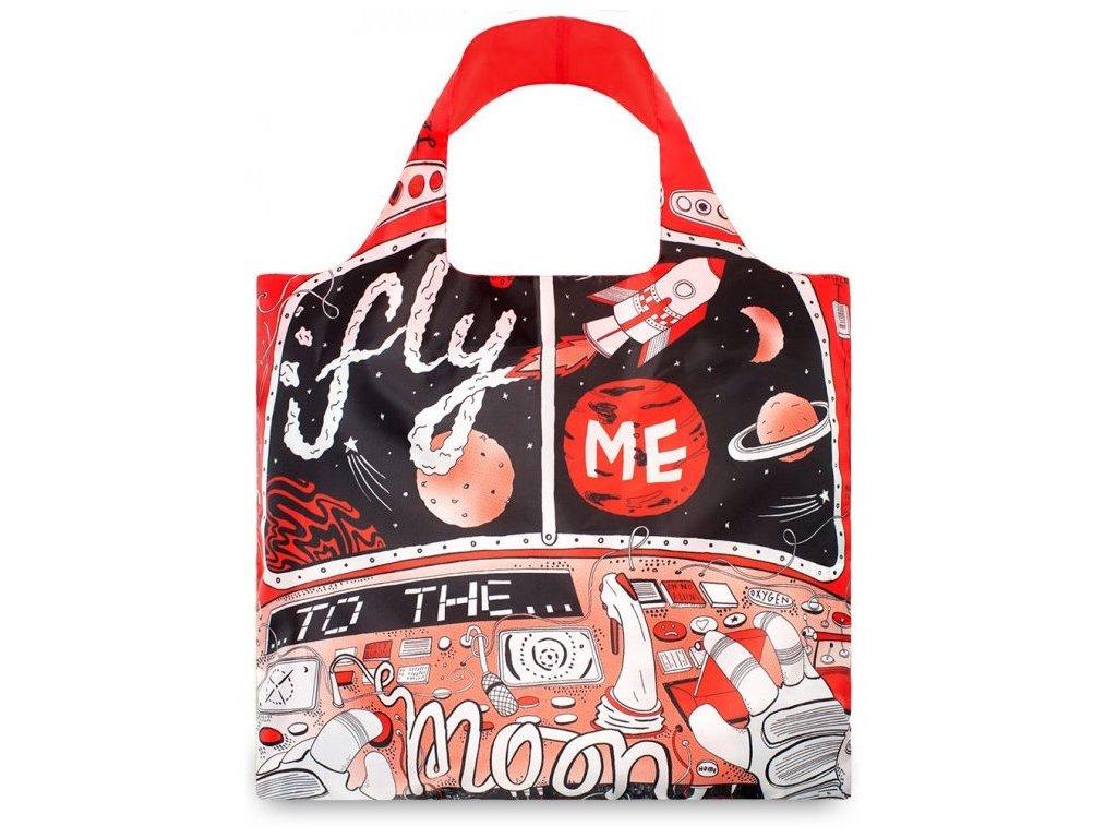 LOQI - skládací nákupní taška Moon by Jessica Wilson