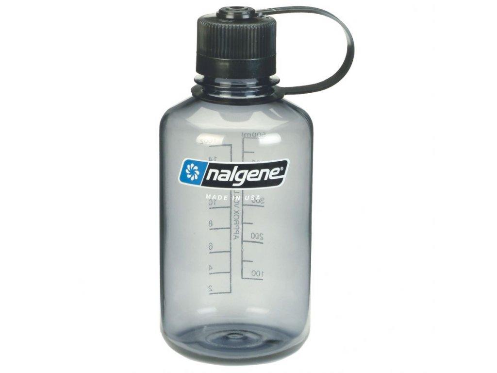 NALGENE - láhev na pití Narrow Mouth 500 ml Grey