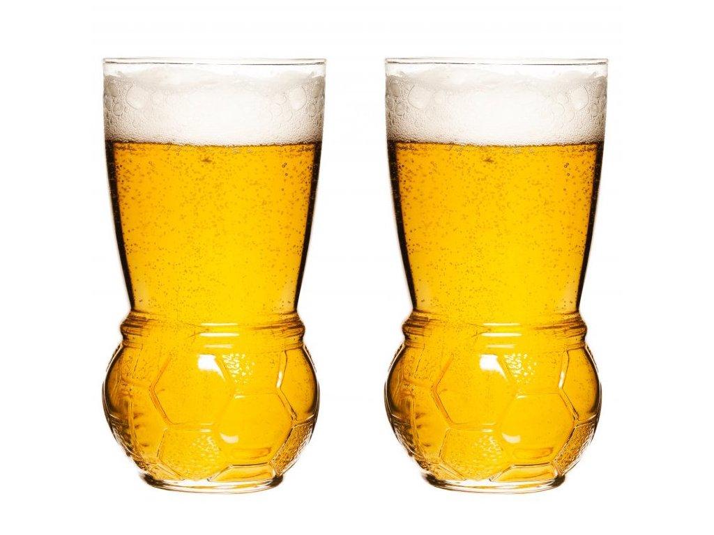 Sagaform - Sklenice na pivo Football Glasses 45cl - set 2ks