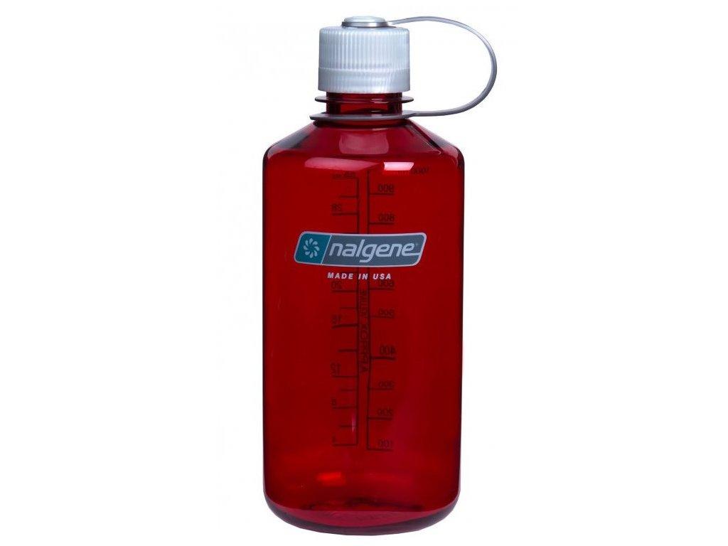 NALGENE - láhev na pití Narrow Mouth 1000 ml Outdoor Red