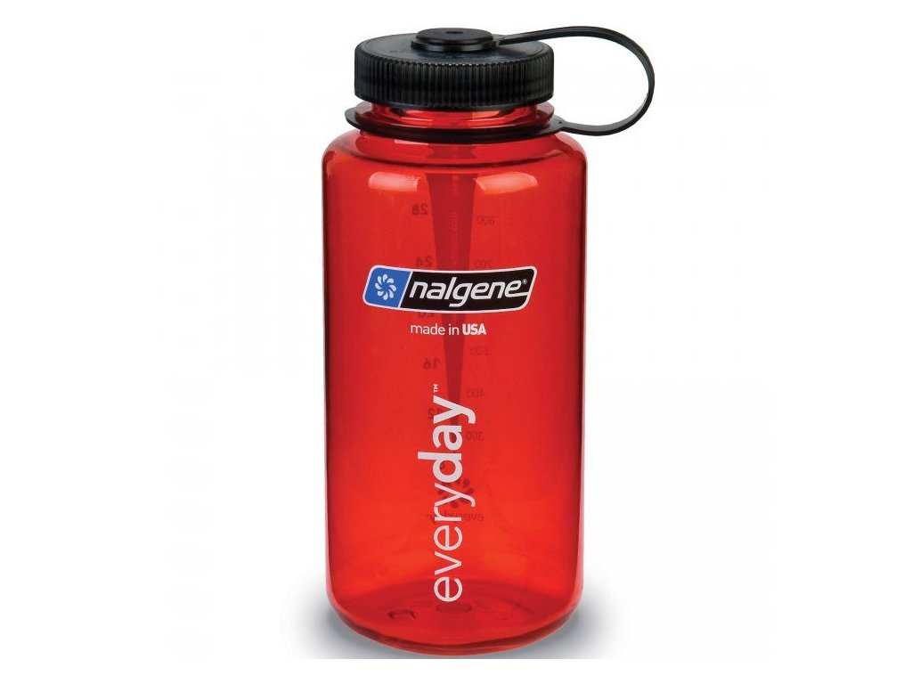 NALGENE - láhev na pití Wide Mouth 1000 ml Red