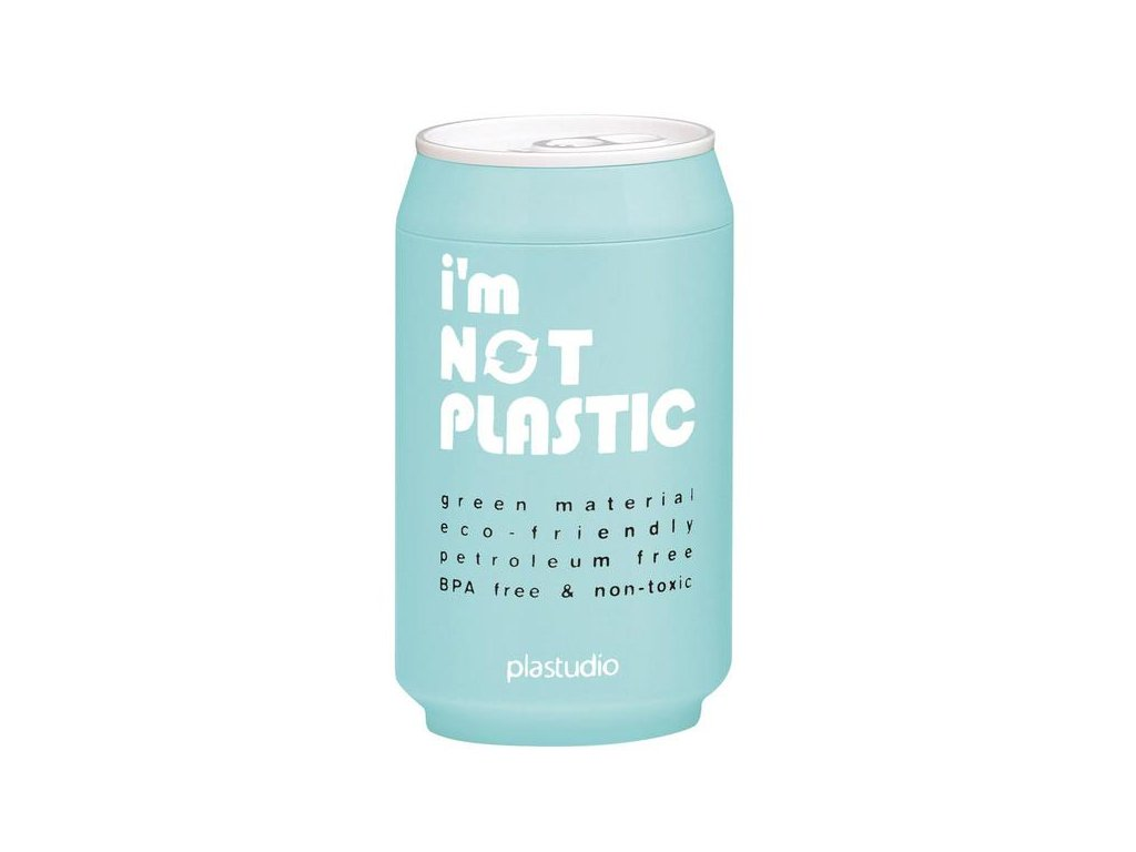 I'M NOT PLASTIC - ekologický termohrnek 280 ml světle modrý