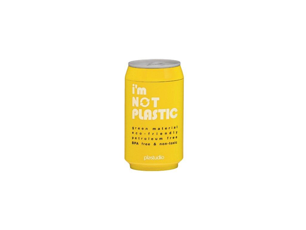 I'M NOT PLASTIC - ekologický termohrnek 280 ml žlutý
