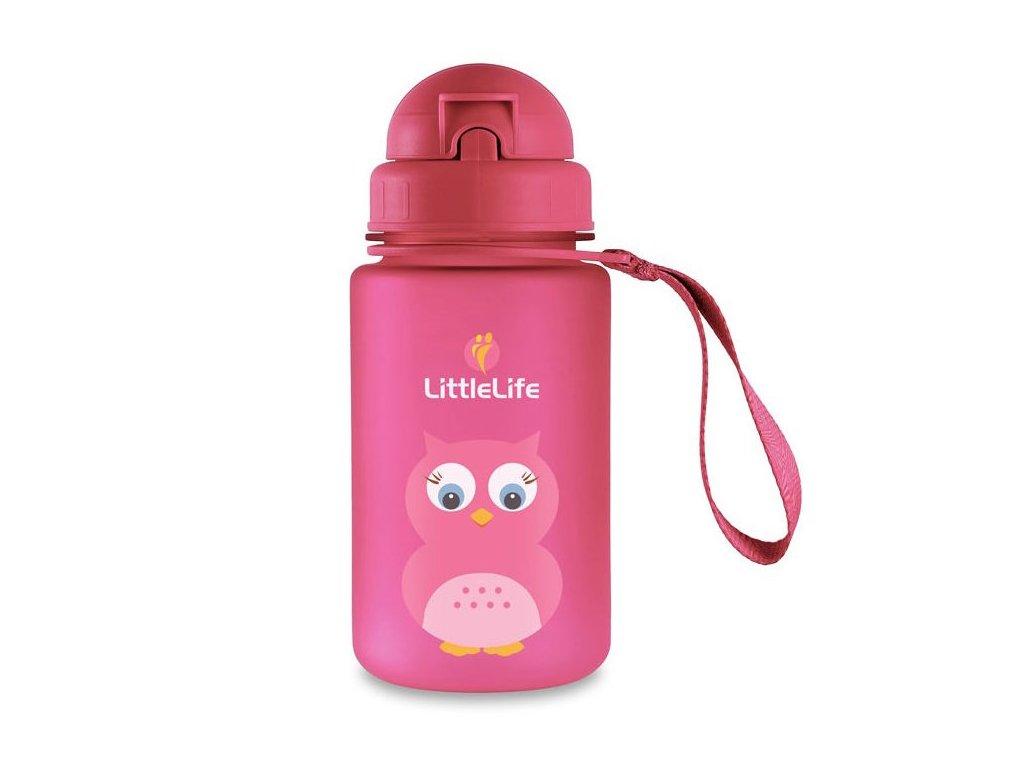 LittleLife lahev pro děti Animal Bottle 400 ml - sova