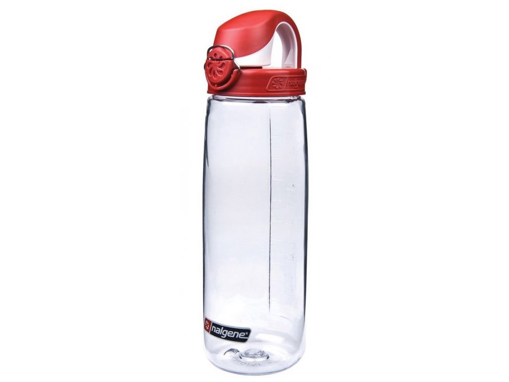 NALGENE - láhev na pití On The Fly 650 ml Clear/Fire Red