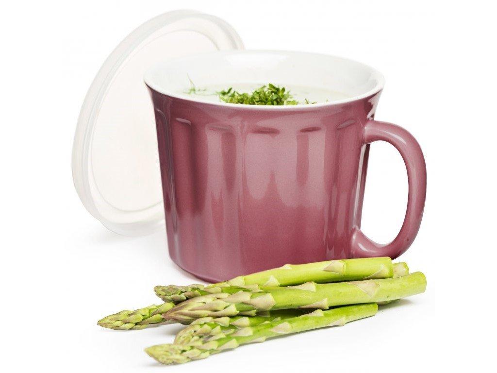 Sagaform - hrnek na polévku Soup Mug 0,5l růžový