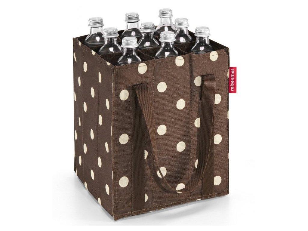 Reisenthel taška na lahve Bottlebag Mocha dots