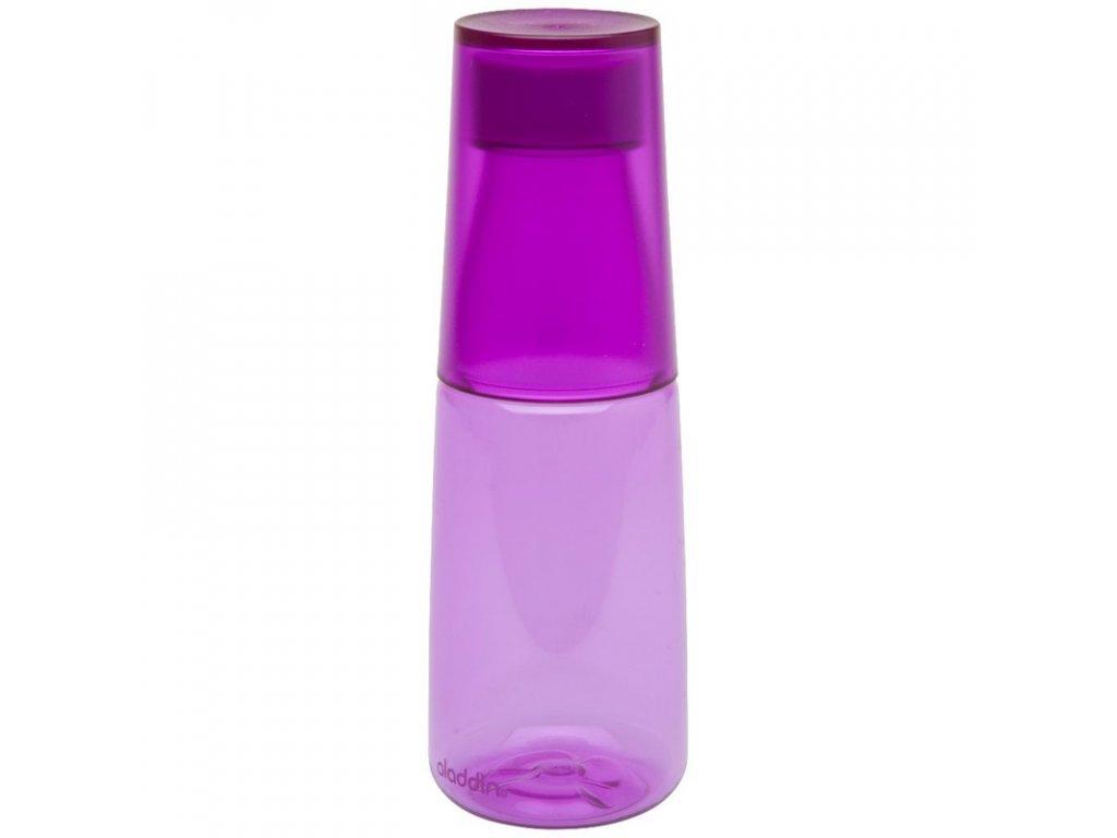 Aladdin - láhev na vodu s kalíškem Crave 500 ml fialová