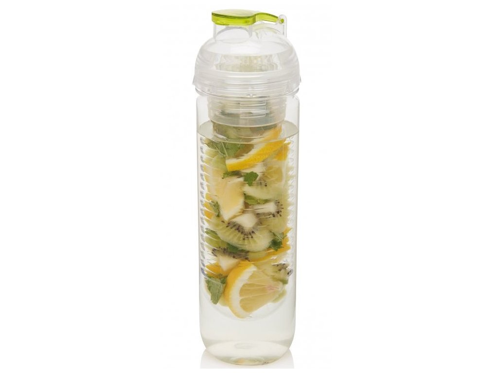 Loooqs láhev s košíkem na ovoce 500 ml zelená