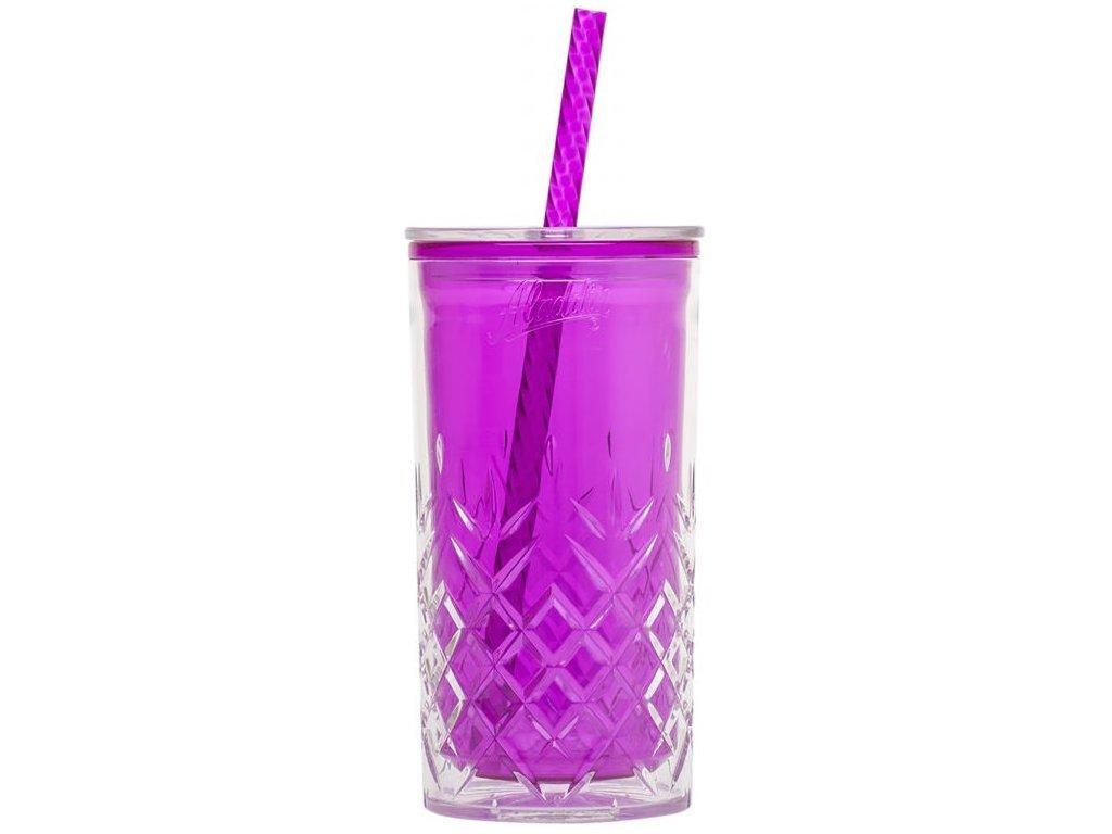 Aladdin - dvoustěnný hrnek 470 ml fialový