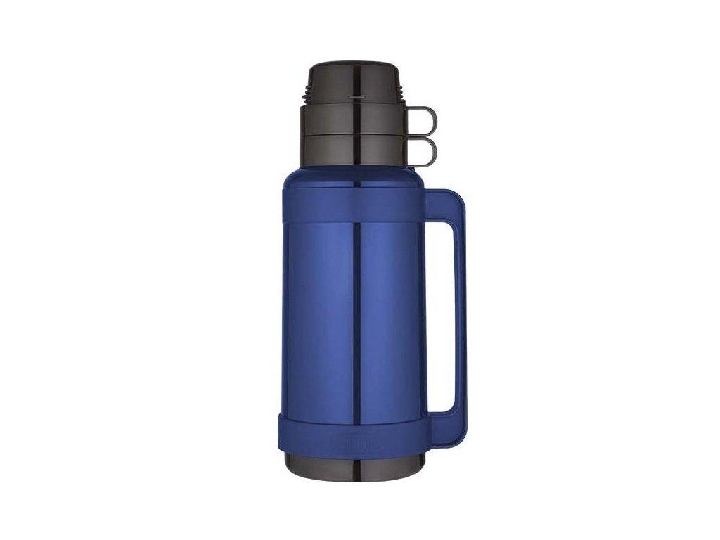 Thermos - skleněná termoska modrá 1l