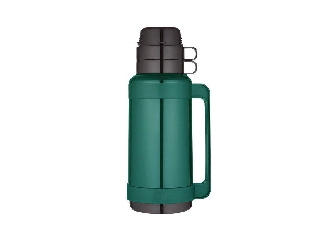 Thermos - skleněná termoska zelená 1l