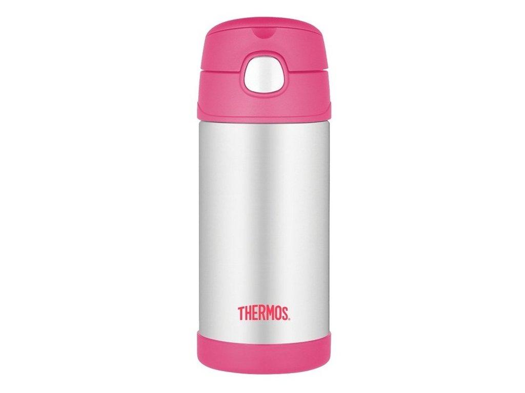 Thermos - FUNtainer dětská nerezová termoláhev 355 ml růžová