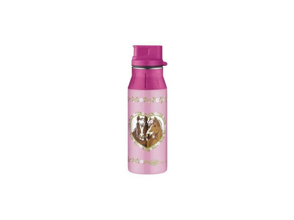 Alfi - lahev na pití II Horses pink 600 ml