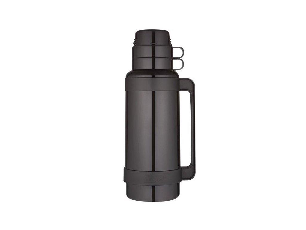 Thermos - skleněná termoska černá 1,8l