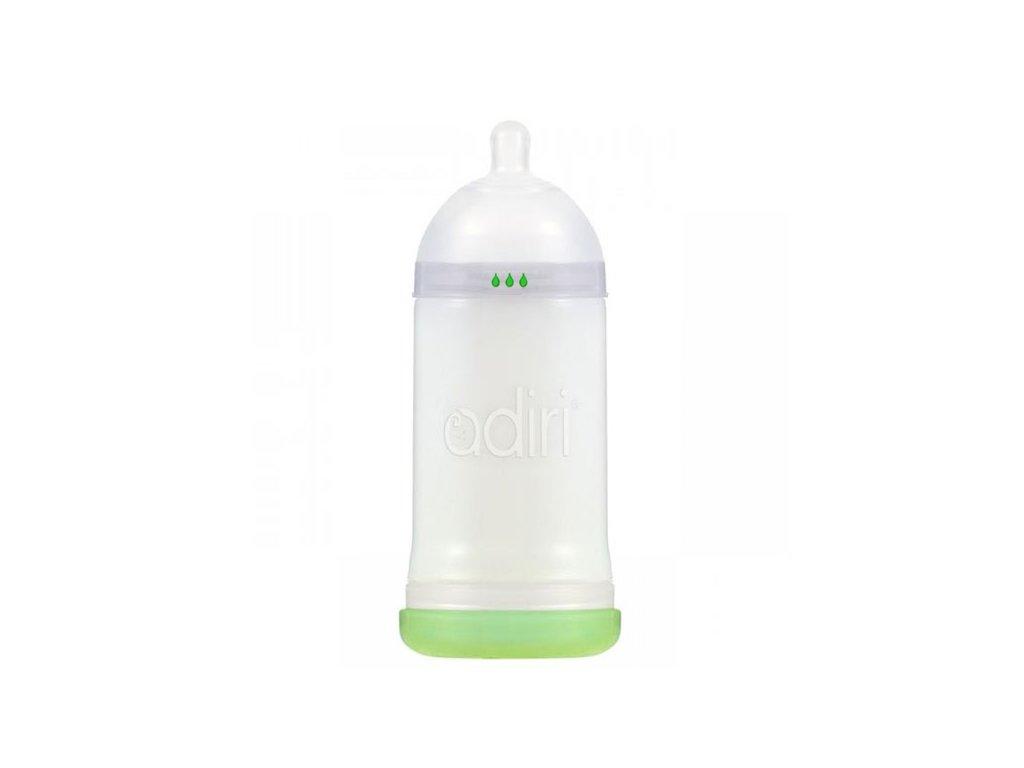 Adiri kojenecká lahev Nuser 6-9m 281 ml bílá