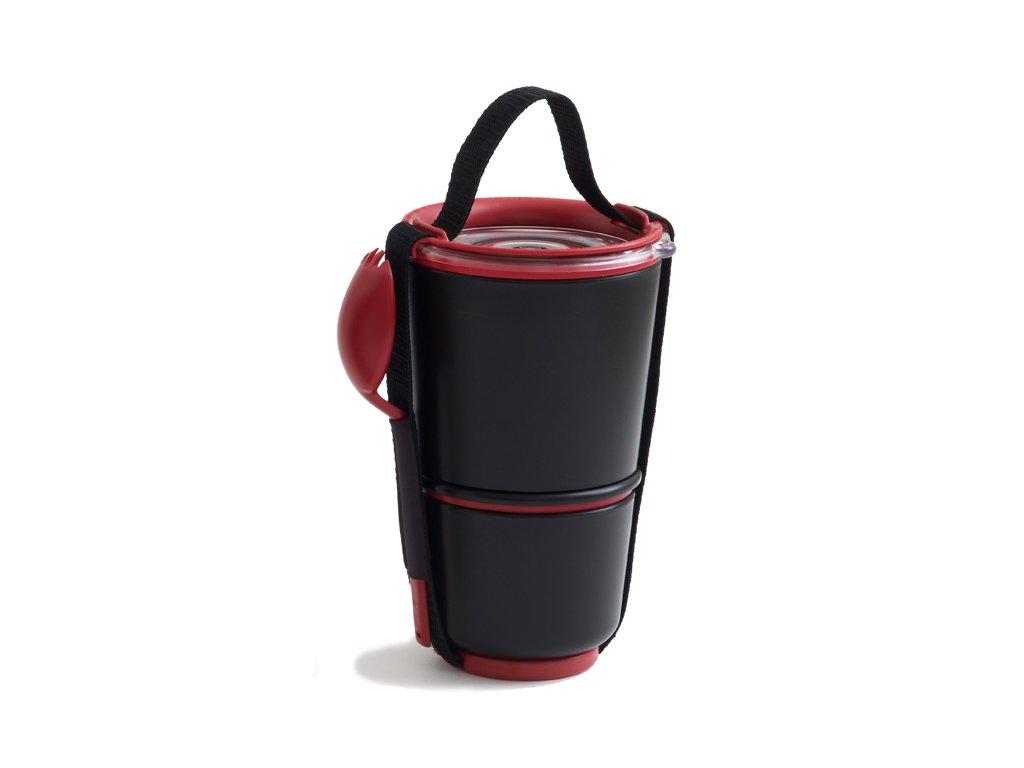 BLACK-BLUM Lunch Pot, černo červený