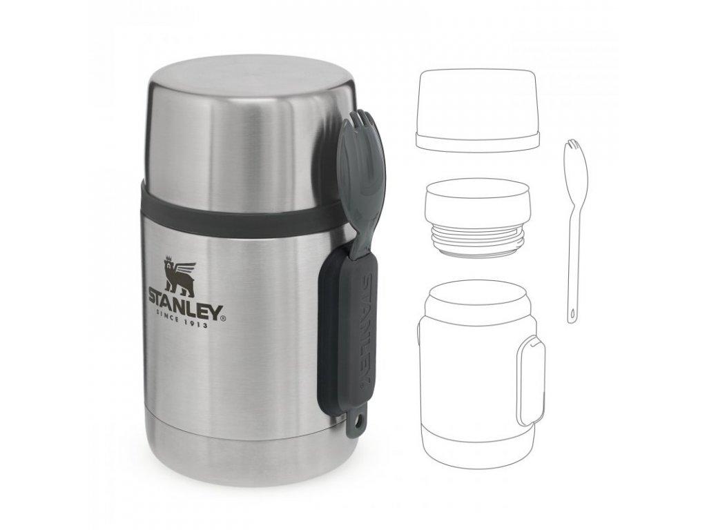 Stanley - jídelní termoska se lžící 500 ml nerez 1aa3e359498