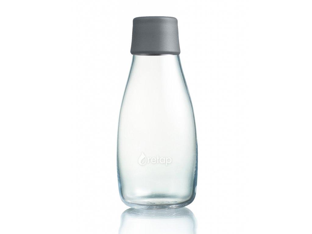 Retap skleněná láhev 0,3l šedá