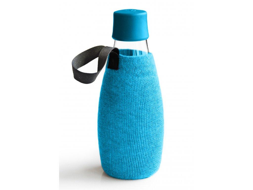 Retap obal na láhev 0,5l azurový úplet