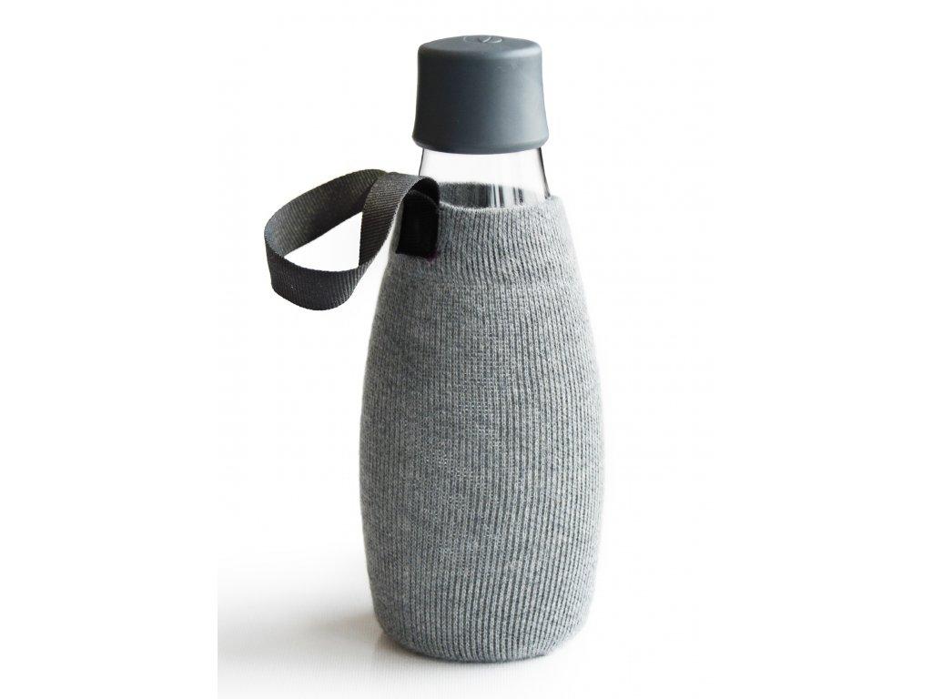 Retap obal na láhev 0,5l šedý úplet