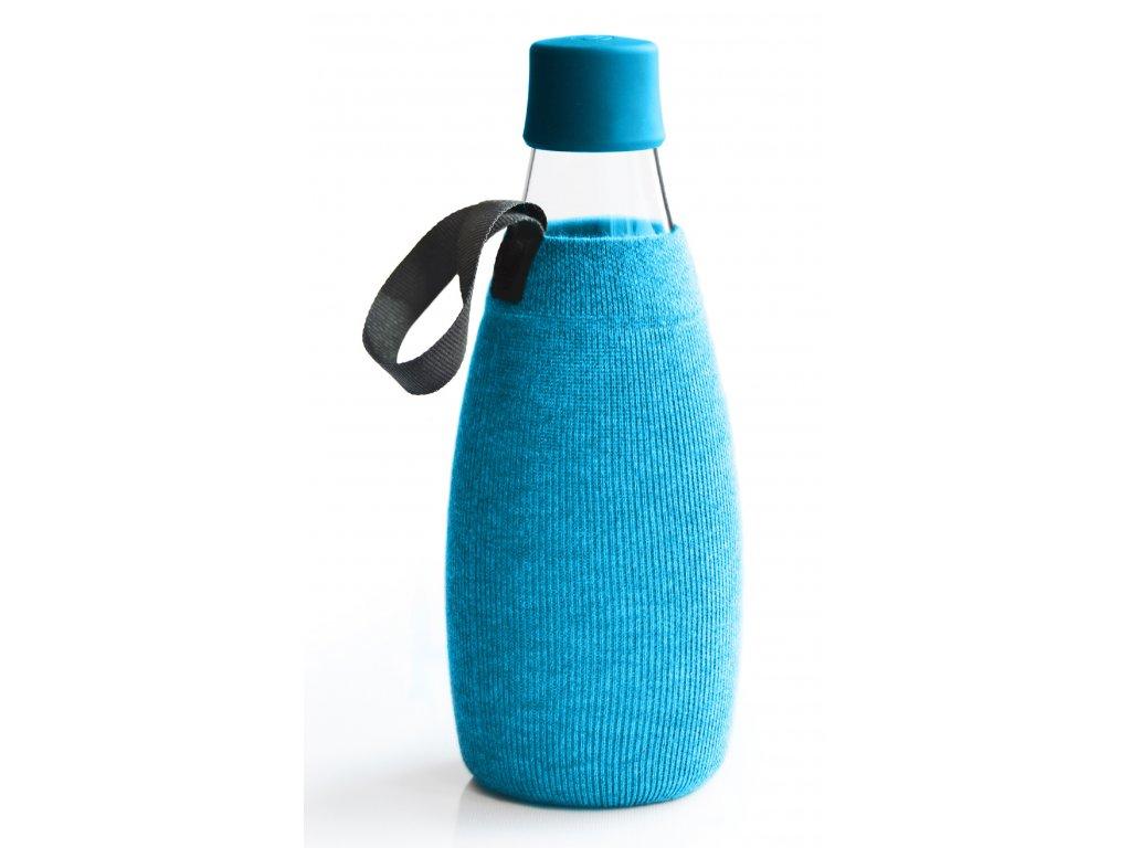 Retap obal na láhev 0,8l azurový úplet