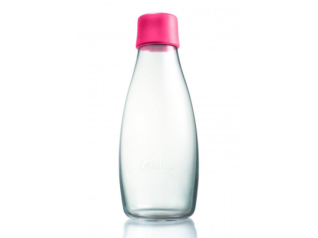 Retap skleněná láhev 0,5l růžová