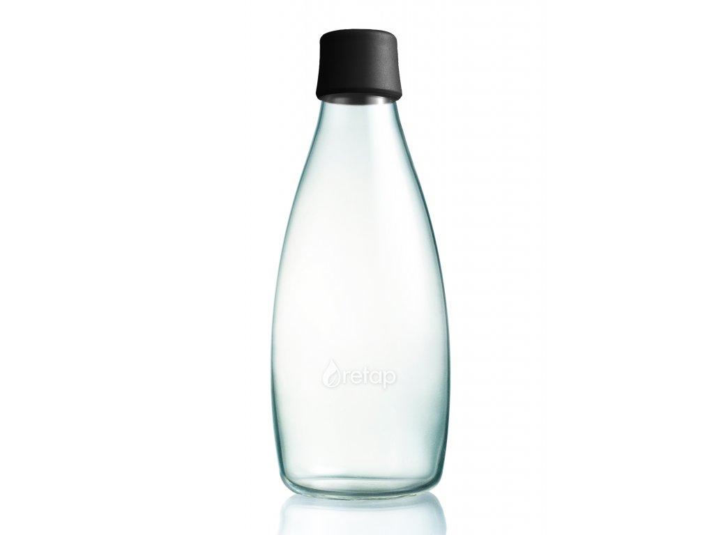 Retap skleněná láhev 0,8l černá