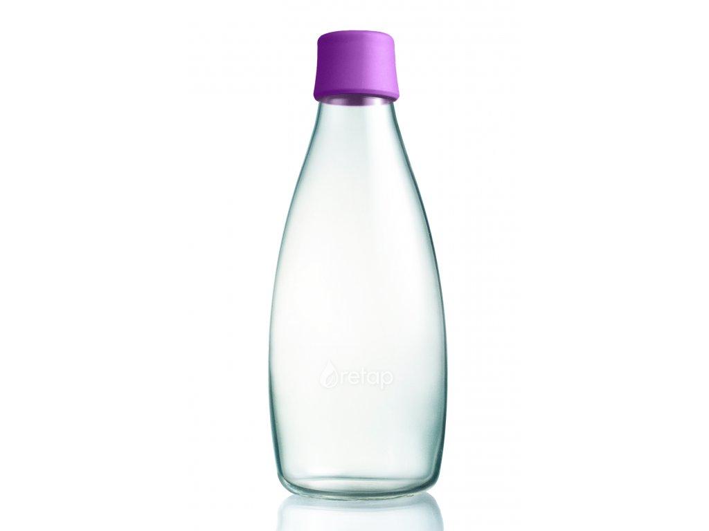Retap skleněná láhev 0,8l fialová
