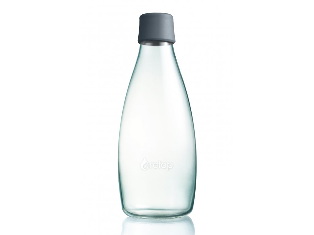 Retap skleněná láhev 0,8l šedá