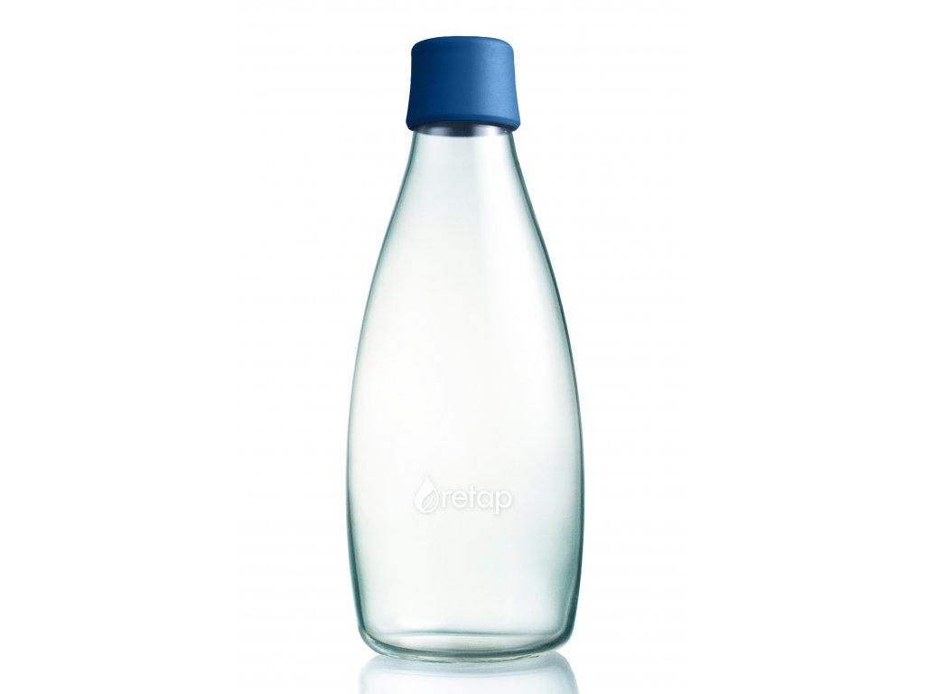 Retap skleněná láhev 0,8l tmavě modrá