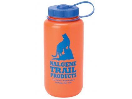 NALGENE - láhev na pití Wide Mouth 1000 ml Orange Cat Logo