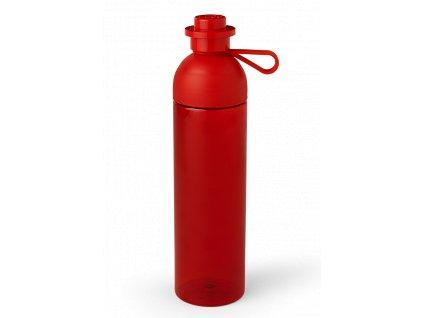 LEGO láhev na pití transparentní 740 ml červená