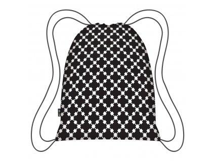 Ecozz stylový batoh Eco Backpack Black Squares 1