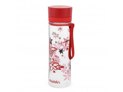 Praktická láhev na vodu do školy i do práce Aladdin Aveo 600 ml červená s potiskem 1