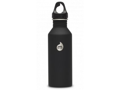 Černá nerezová láhev na vodu MIZU 1