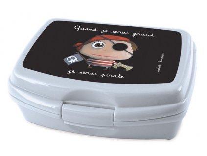Label Tour box na svačinu Pirát