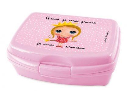 Label Tour box na svačinu Princezna