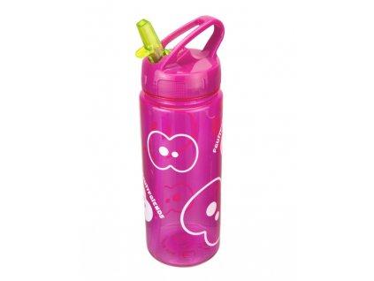 FRUITFRIENDS hydratační lahev na vodu růžová s brčkem 500 ml