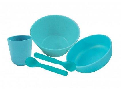 Pacific Baby bambusové nádobí - velká sada modrá