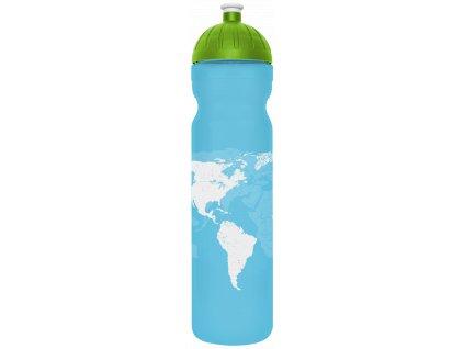 FreeWater plastová lahev 1,0l Svět modrá