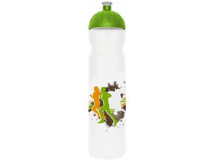 FreeWater plastová lahev 1,0l Sportovec transparentní