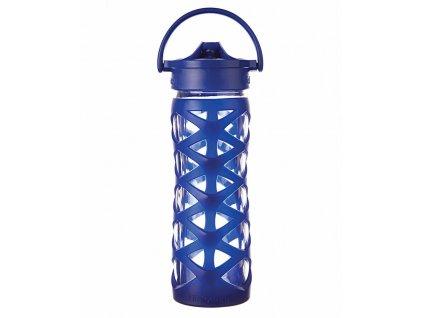 Lifefactory skleněná láhev AXIS uzávěr 475 ml Sapphire