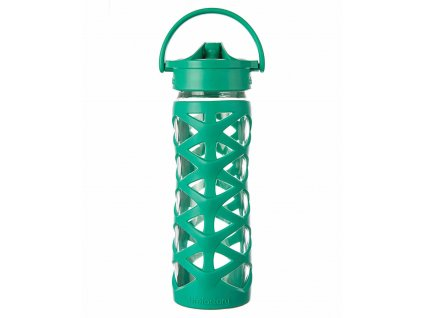 Lifefactory skleněná láhev AXIS uzávěr 475 ml Aquatic Green