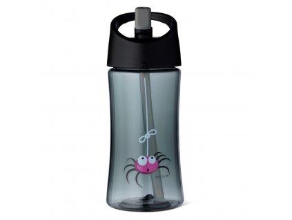 Carl Oscar dětská lahev 350 ml šedá pavouček